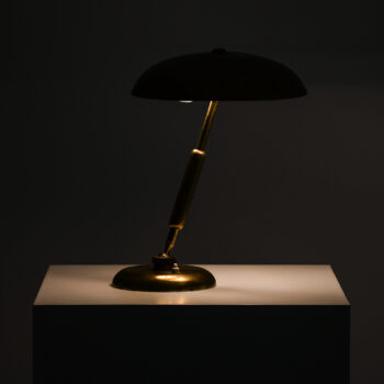 Flexible table lamp in brass at Studio Schalling