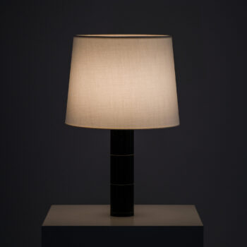 Table lamps in black leather by Bergbom at Studio Schalling