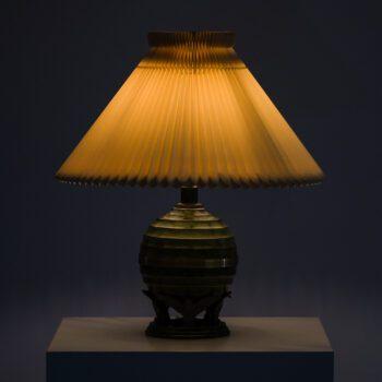 Art Deco table lamp in bronze and brass at Studio Schalling