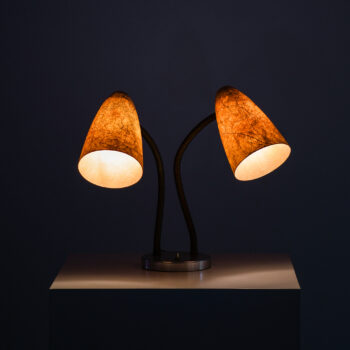 Table lamp with gooseneck arms at Studio Schalling