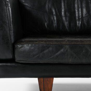 Illum Wikkelsø sofa model V11 in leather at Studio Schalling