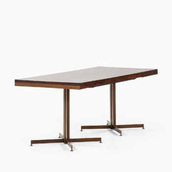 Dining table in bronze and mahogany at Studio Schalling