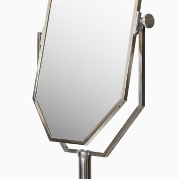Table mirror in nickel plated brass at Studio Schalling
