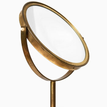 Hans-Agne Jakobsson table mirror in brass at Studio Schalling