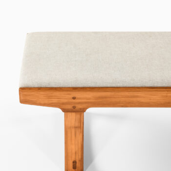 Bench in pine and linen fabric at Studio Schalling