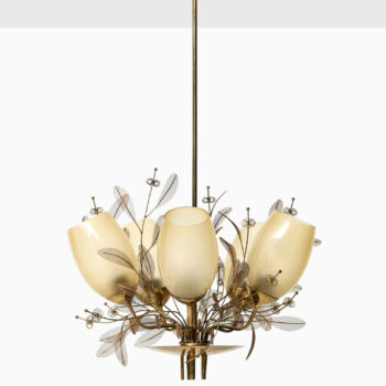 Paavo Tynell ceiling lamp model 9029/5 at Studio Schalling