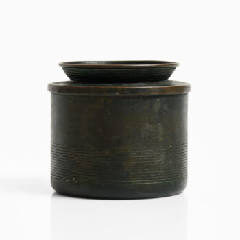 Nils Fougstedt jar in bronze by FAK at Studio Schalling
