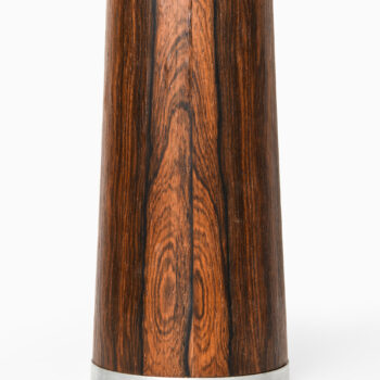 Rosewood and steel table lamp at Studio Schalling