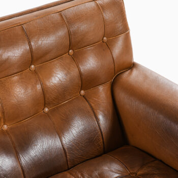 Arne Norell sofa model Merkur in leather at Studio Schalling