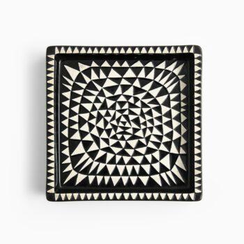 Stig Lindberg ceramic tray model Domino at Studio Schalling