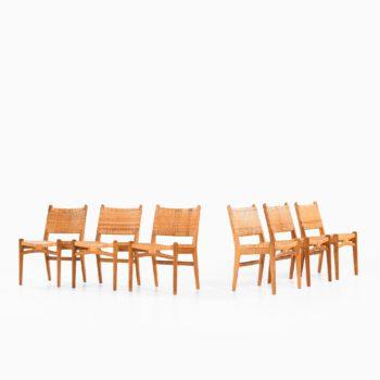 Hans Wegner dining chairs model CH-31 at Studio Schalling