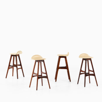 Erik Buck bar stools model OD-61 in rosewood at Studio Schalling