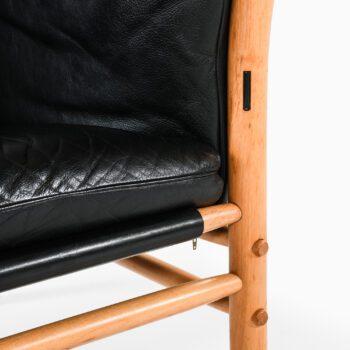 Arne Norell sofa model Ilona in black leather at Studio Schalling