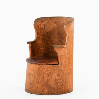 Emil Cederlund stump chair in solid pine at Studio Schalling