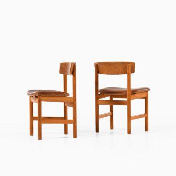 Børge Mogensen dining chairs model Öresund at Studio Schalling