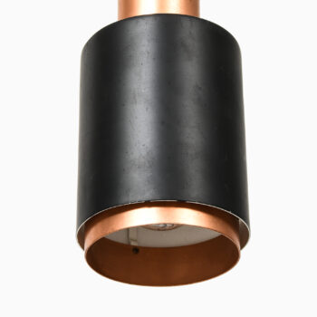 Ceiling lamps in lacquered metal and copper at Studio Schalling