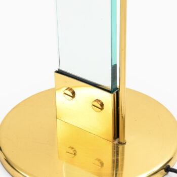 Floor lamp / uplight in brass and glass at Studio Schalling