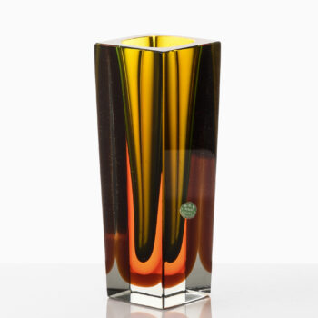 Luigi Mandruzzato glass vase by Murano at Studio Schalling