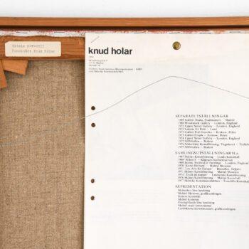 Knud Holar oil painting at Studio Schalling