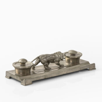 Nils Fougstedt ink stand in pewter at Studio Schalling