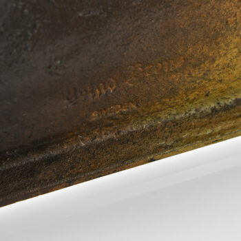 Large decorative bowl in bronze at Studio Schalling