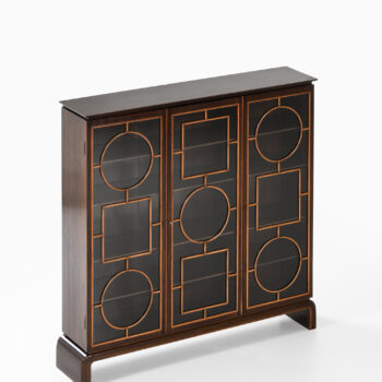 Unique cabinet in mahogany and glass at Studio Schalling
