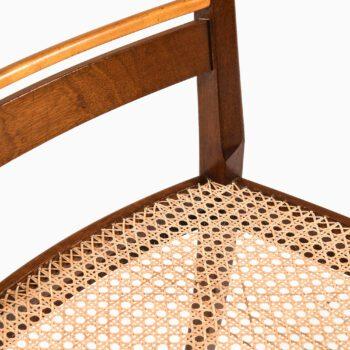 Erik Chambert dining chairs in mahogany at Studio Schalling