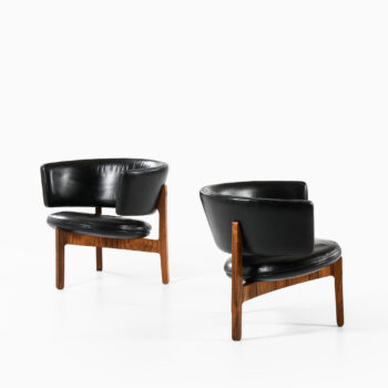 Svend Ellekær easy chairs in rosewood at Studio Schalling