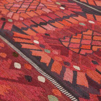 Barbro Nilsson carpet Nejlikan röd at Studio Schalling