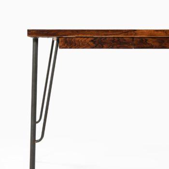 Freestanding desk in rosewood and teak at Studio Schalling