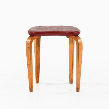 Gustav Axel Berg stool in laminated birch at Studio Schalling