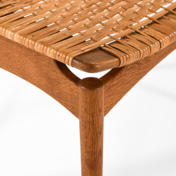 Sigfrid Omann stool in oak and woven cane at Studio Schalling