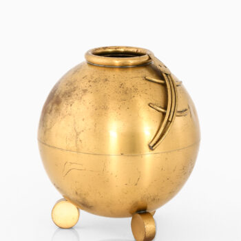 Carl-Einar Borgström vase in brass at Studio Schalling