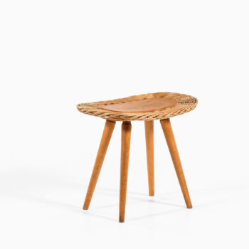Stool in rattan and beech by unknown designer at Studio Schalling