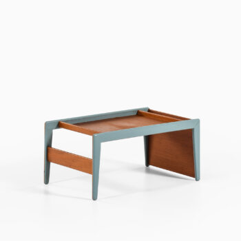 Side table in teak and lacquer at Studio Schalling