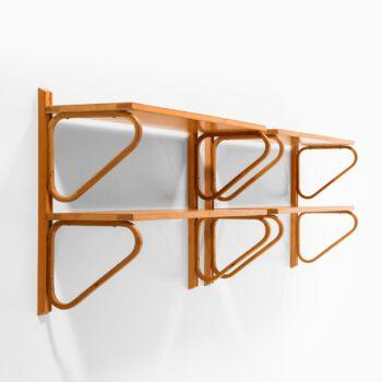 Alvar Aalto wall shelves in birch at Studio Schalling