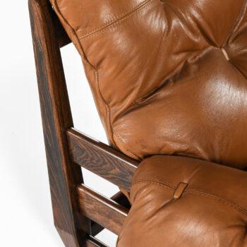 Jean Gillon sofa in rosewood and leather at Studio Schalling