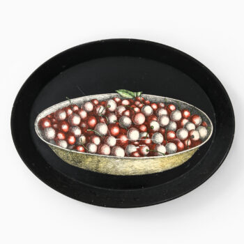 Piero Fornasetti tray in lacquered metal at Studio Schalling