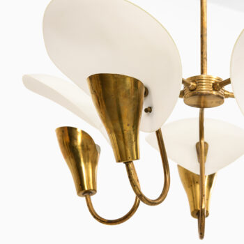 Ceiling lamp in brass by Valinte Oy at Studio Schalling