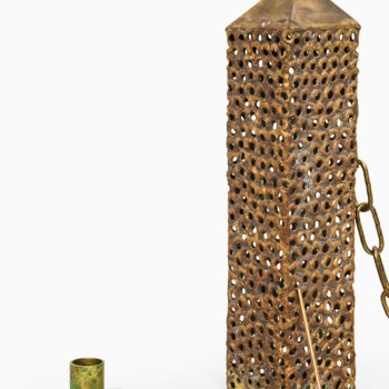 Pierre Forsell lantern in brass at Studio Schalling