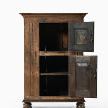 Baroque cabinet in oak and iron fittings at Studio Schalling