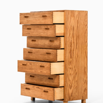 Bureau or chest of drawers in pine at Studio Schalling