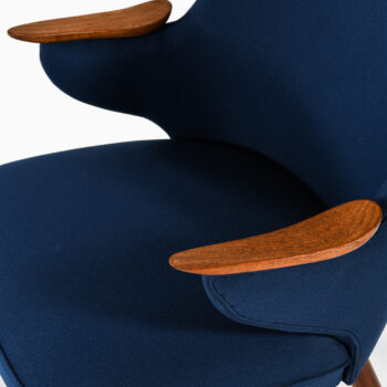Erling Olsen easy chairs in teak and fabric at Studio Schalling
