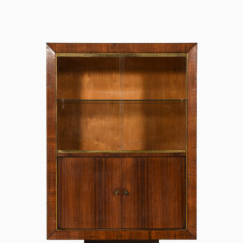Bar cabinet in rosewood, brass and glass at Studio Schalling