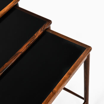 Kai Winding nesting tables in rosewood at Studio Schalling