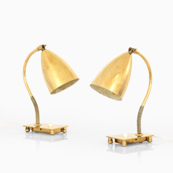 Itsu table lamps in brass model EV 54 at Studio Schalling