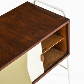 Small sideboards in teak and lacquer at Studio Schalling