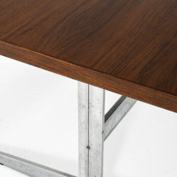 Large dining table in rosewood at Studio Schalling