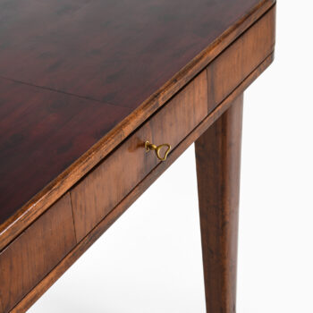 Library table with 8 drawers in walnut at Studio Schalling