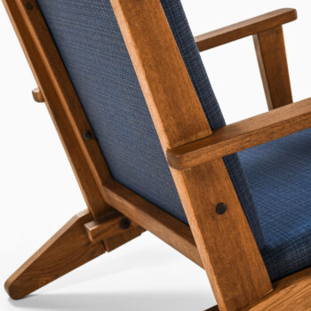 Poul Hansen easy chairs in oak and fabric at Studio Schalling